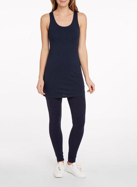 women's singlet - organic cotton dark blue dark blue - 1000005525 - hema