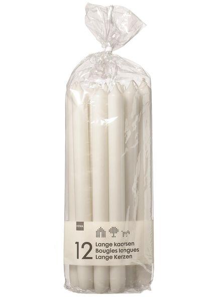 12 huishoudkaarsen extra lang wit 2.2 x 29 - 13503050 - HEMA