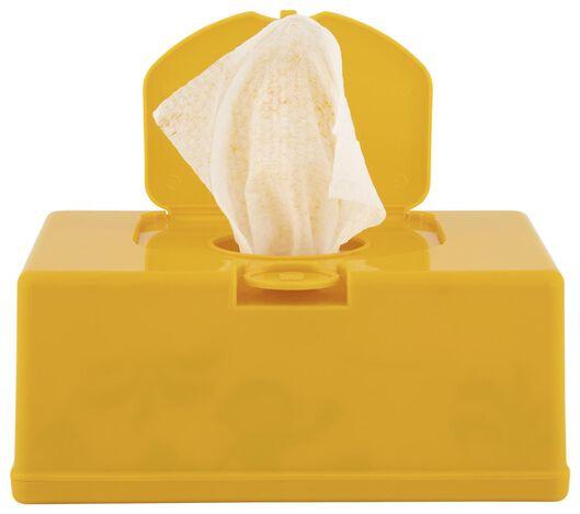 boîte lingettes jaune 11x20x8.5 - 33504030 - HEMA