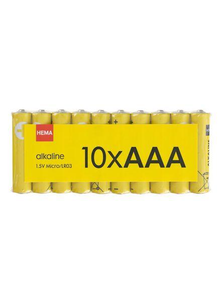 lot de 10 piles AAA alcalines - 41290256 - HEMA
