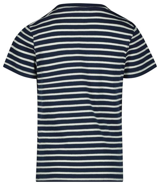 Kinder-T-Shirt, Streifen dunkelblau dunkelblau - 1000023130 - HEMA