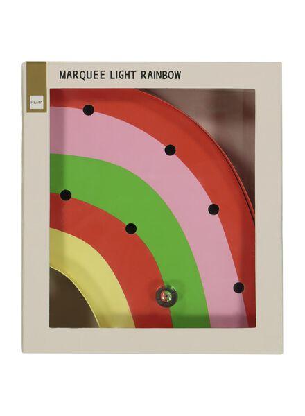 Marquee-Regenbogenleuchte – 5 x 18 x 21 cm - 60100434 - HEMA