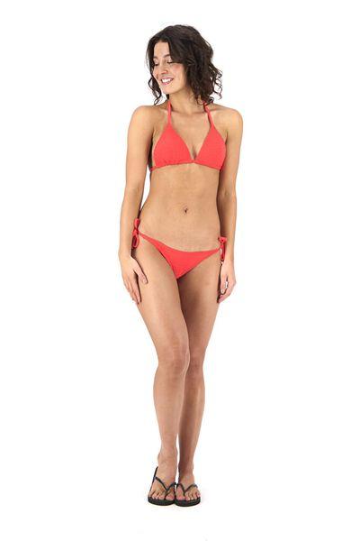 Bademode - HEMA Damen Bikinislip Rot  - Onlineshop HEMA