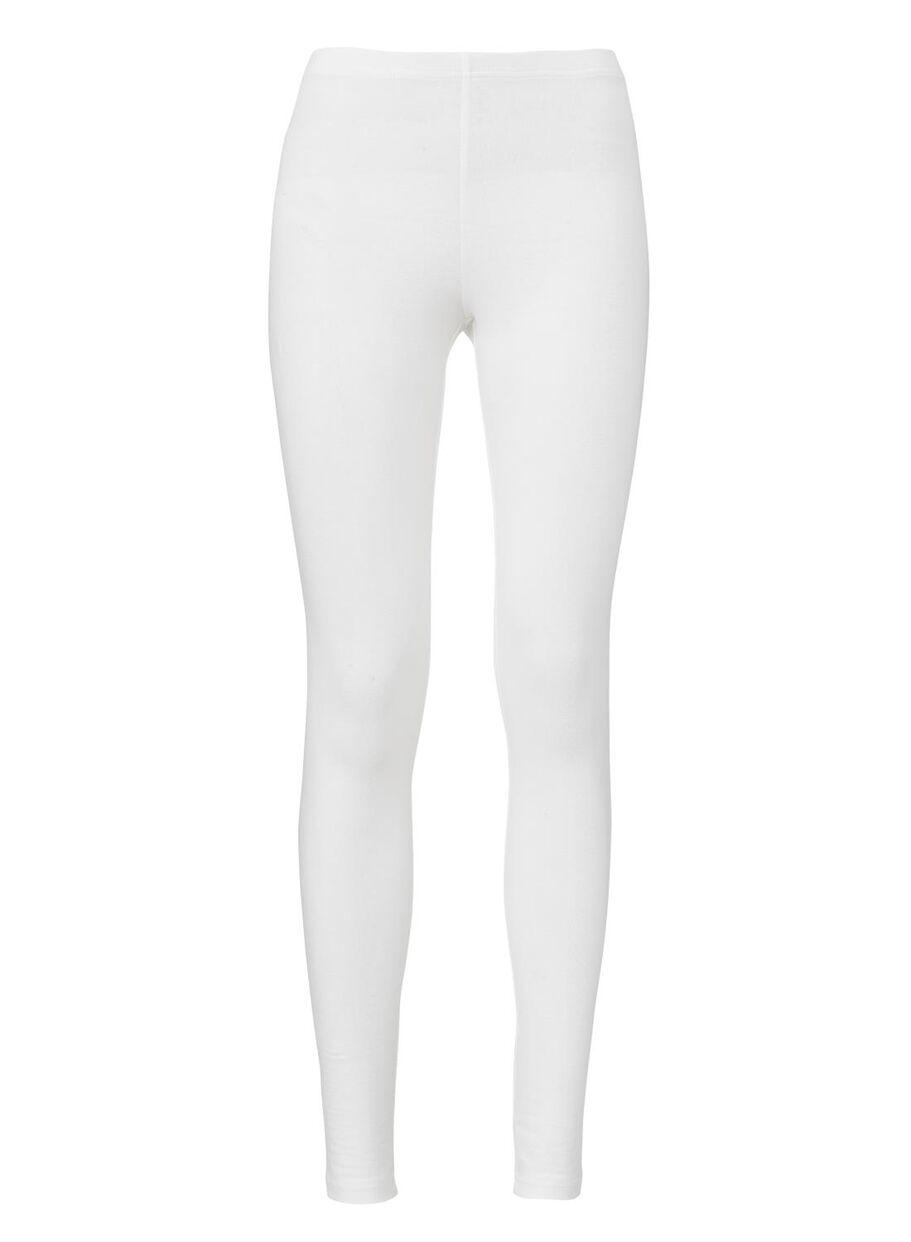 images legging femme - coton biologique blanc blanc - 1000004946 - HEMA e5acd7f85fa