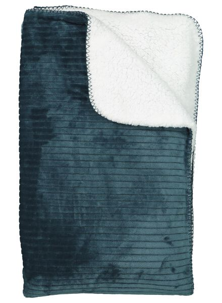 sherpa plaid - 130 x 150 - donkergroen - 7392006 - HEMA