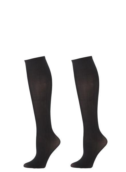 2-pack nylon knee-socks 40 denier black one size - 4022596 - hema