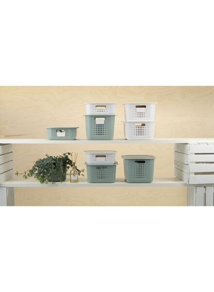 boîte de rangement 37 x 28 x 10 - plastique recyclé - blanc - 39891003 - HEMA