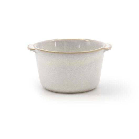 Pastetenförmchen Porto, Ø 8.5 x 6 cm, reaktive Glasur, weiß - 80180001 - HEMA