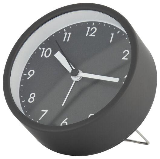 Image of HEMA Alarm Clock Analogue Ø 10 Cm Dark Grey (dark grey)