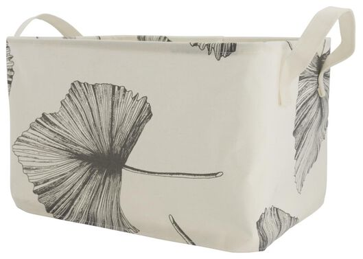 canvas basket 29x38x22 leaf - 39821113 - hema