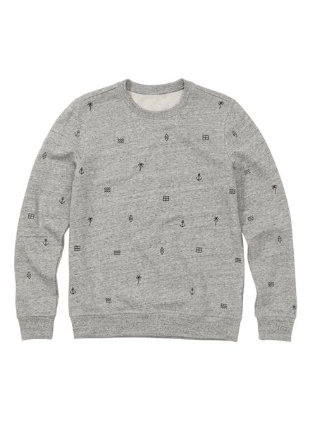 men's sweater grey grey - 1000011429 - hema