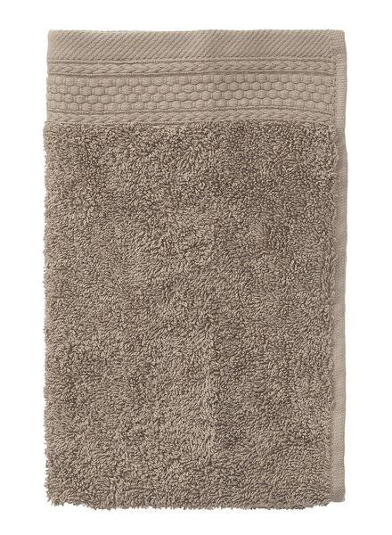 petite serviette-30x55 cm-hôtel extra épais-taupe uni - 5240192 - HEMA
