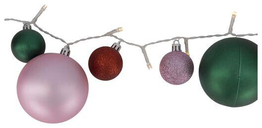 Lichterkette, Weihnachtsbaumkugeln bunt, 40 LED-Lämpchen, 3 Meter - 25530322 - HEMA