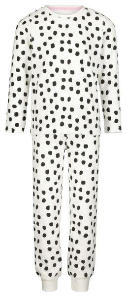 Kinder-Pyjama, Velours, Dalmatinerflecken eierschalenfarben 158/164 - 23040406 - HEMA