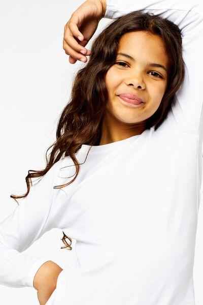 2er-Pack Kinder-Shirts weiß weiß - 1000013796 - HEMA