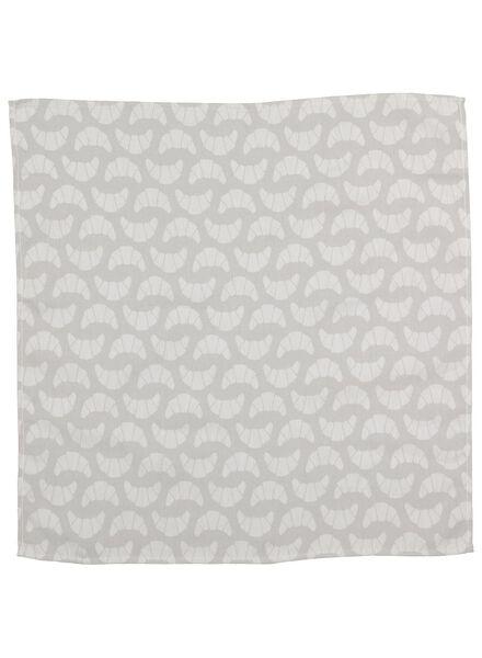 torchon 65x65 croissant - blanc/gris - 5400112 - HEMA