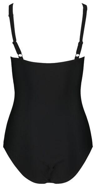 maillot de bain femme contrôle moyen noir/blanc M - 22310192 - HEMA
