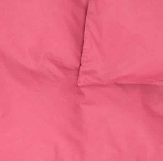 dekbedovertrek - 140 x 200/220 - zacht katoen - roze - 5790068 - HEMA