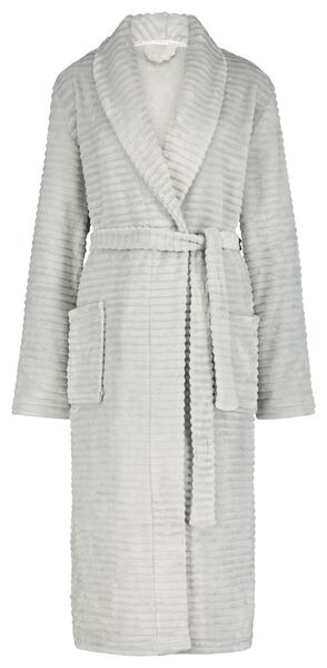 women's bathrobe fleece grey grey - 1000020263 - hema
