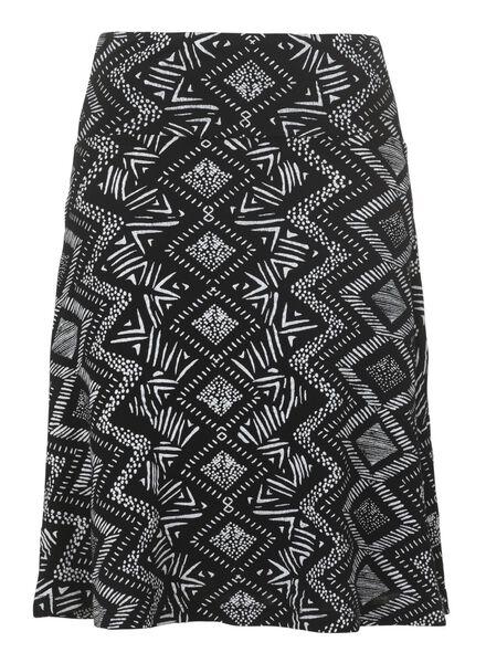 women's skirt black black - 1000006698 - hema