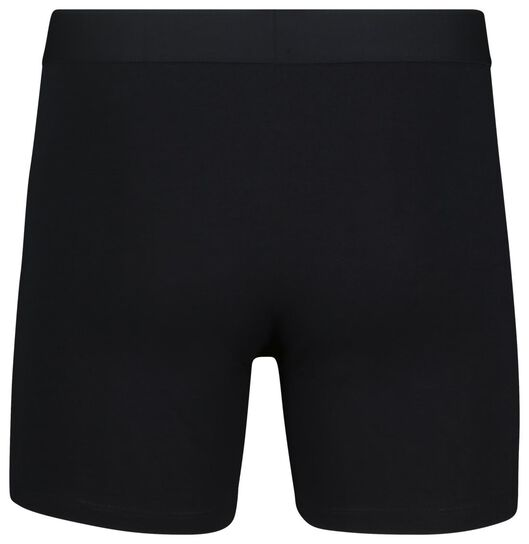 2-pack men's boxer shorts long with bamboo dark blue dark blue - 1000018792 - hema