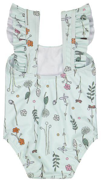 maillot de bain bébé fleurs vert menthe vert menthe - 1000023534 - HEMA