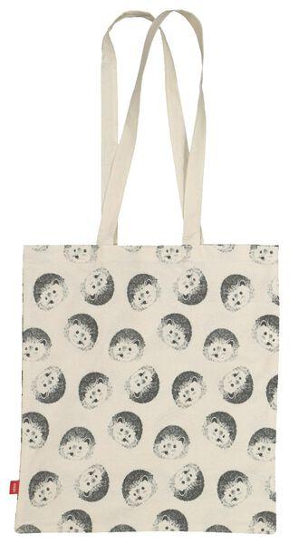 Canvas-Tasche mit Igelmotiv, zusammenfaltbar, 40 x 36 cm - 61123057 - HEMA