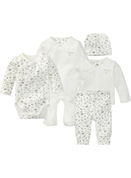cadeau nouveau-né 5 vêtements blanc blanc - 1000005587 - HEMA