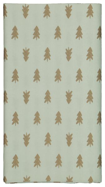 tablecloth paper 138x220 green with pine trees - 25600154 - hema
