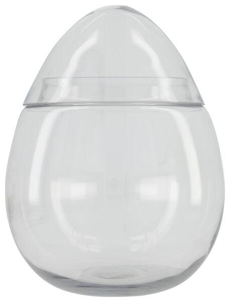 oeuf en verre avec couvercle 30 cm de haut - 25810047 - HEMA
