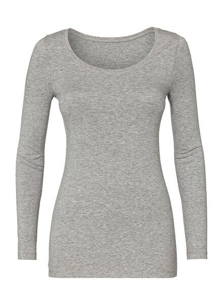 women's basic T-shirt light grey light grey - 1000005480 - hema