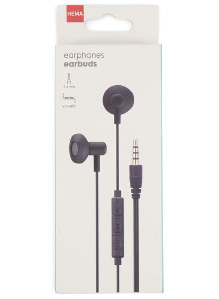 écouteurs earbuds avec réglage du microphone et du volume - 39630080 - HEMA