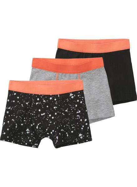 3 boxers enfant noir noir - 1000011496 - HEMA