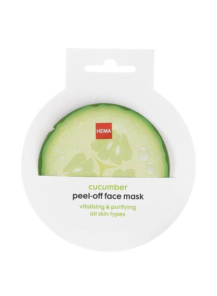 peel-off masker met komkommer - 17850037 - HEMA