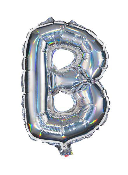 ballon alu lettre B - argenté - 14200204 - HEMA