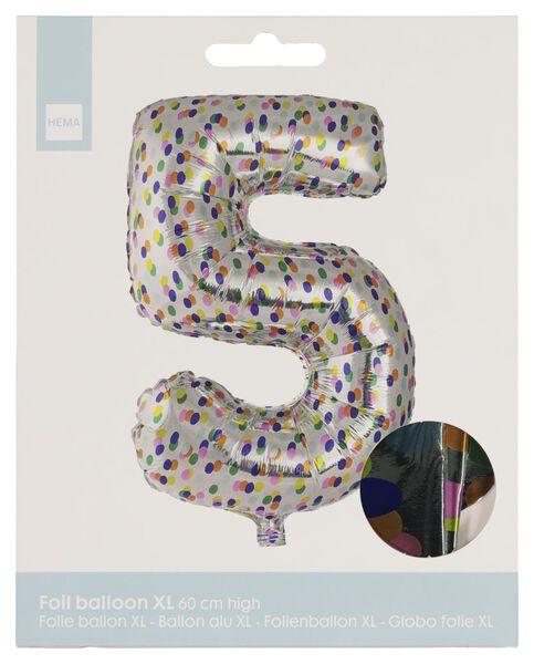 ballon alu XL chiffres 0-9 confettis argenté argenté - 1000020810 - HEMA