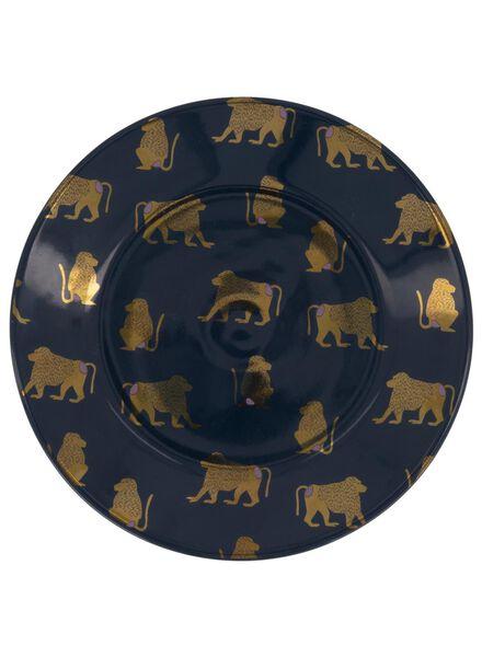 side plate - 17 cm - Bergen - blue with monkey - 9602087 - hema