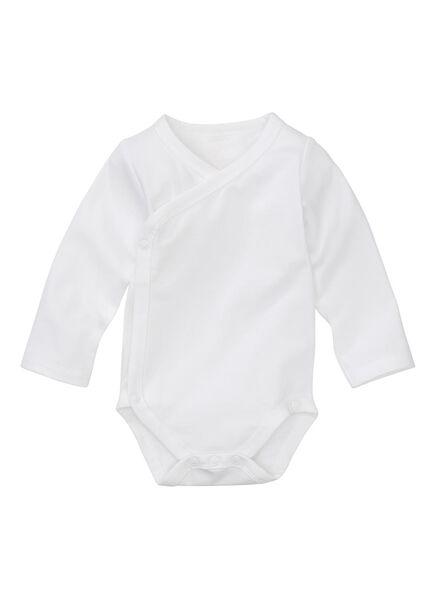 body croisé en coton biologique stretch - 2 pièces blanc 56 - 33374322 - HEMA