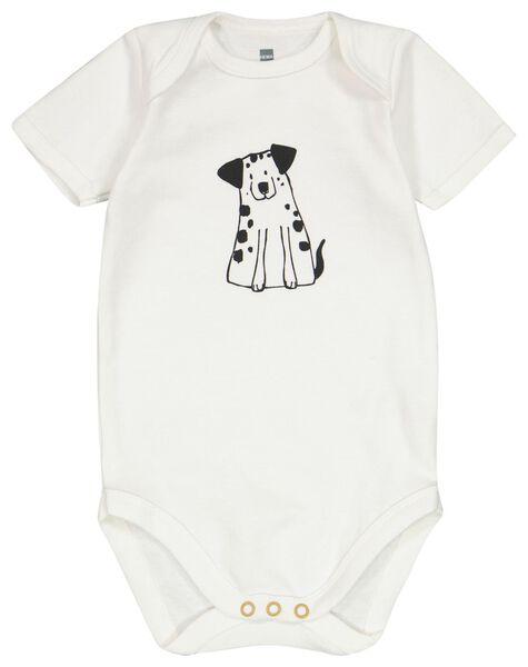 4er-Pack Baby-Bodys, Baumwolle weiß weiß - 1000023842 - HEMA