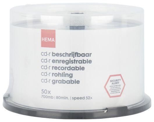 50er-Pack CD-R, 700 MB/80 min - 39520038 - HEMA