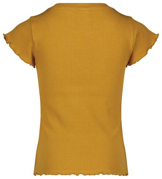 Kinder-T-Shirt, gerippt gelb gelb - 1000024388 - HEMA