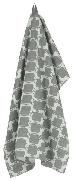 tea towel 65x65 cotton - grey teapot - 5410089 - hema