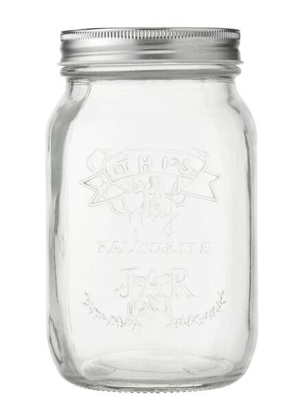 Glasbehälter, 0.8 Liter - 80810171 - HEMA