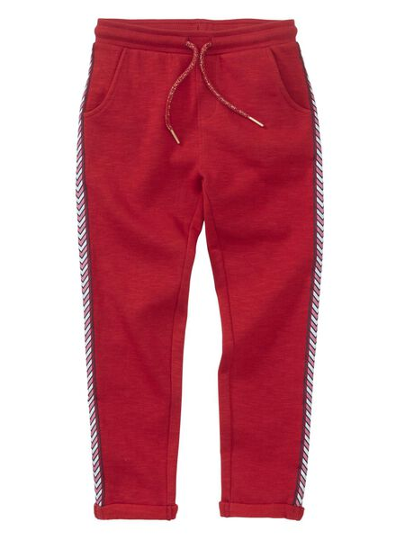 pantalon sweat enfant rouge rouge - 1000013488 - HEMA