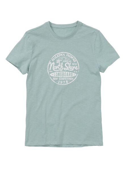 men's T-shirt light green light green - 1000006150 - hema