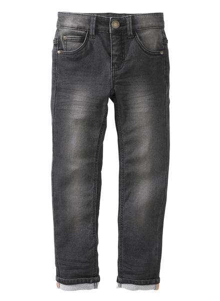 pantalon enfant skinny noir noir - 1000003939 - HEMA