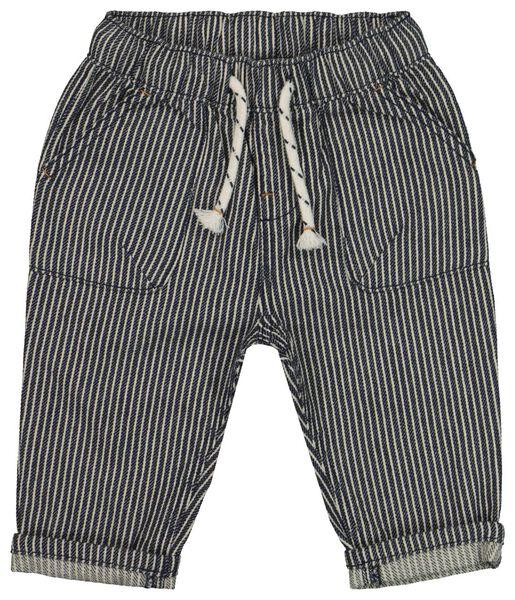 Babyhosen - HEMA Baby Hose, Gestreift Jeansfarben - Onlineshop HEMA