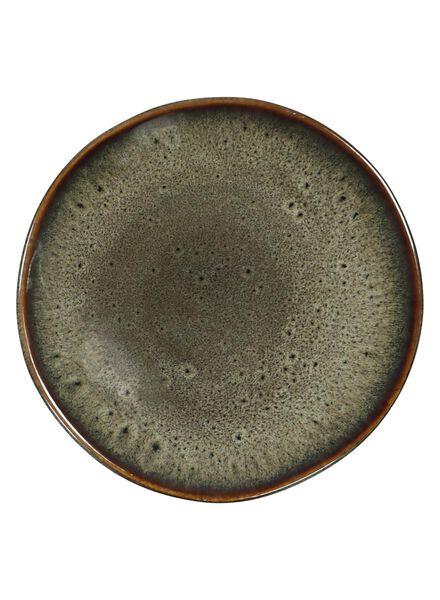 assiette à dessert - 16.5 cm - Porto - émail réactif - taupe - 9602051 - HEMA