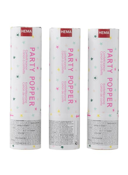 3er-Pack Konfettikanonen - 25601762 - HEMA