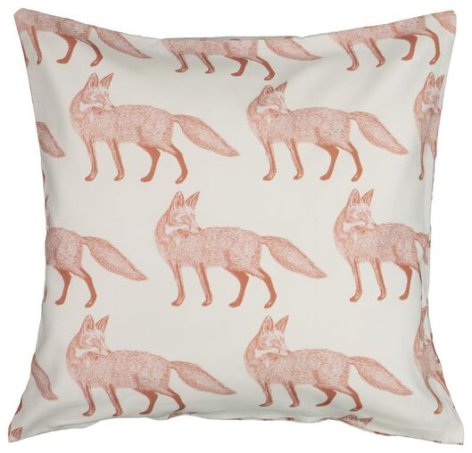 cushion cover 50x50 - foxes terracotta - 7322005 - hema